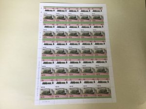 Nevis Nord L'Outrance  Railway Locomotive Train MNH full  stamps sheet 49528