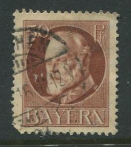 Bavaria -Scott 106 - King Ludwig III -1914-20 - Used - Single 50pf Stamp