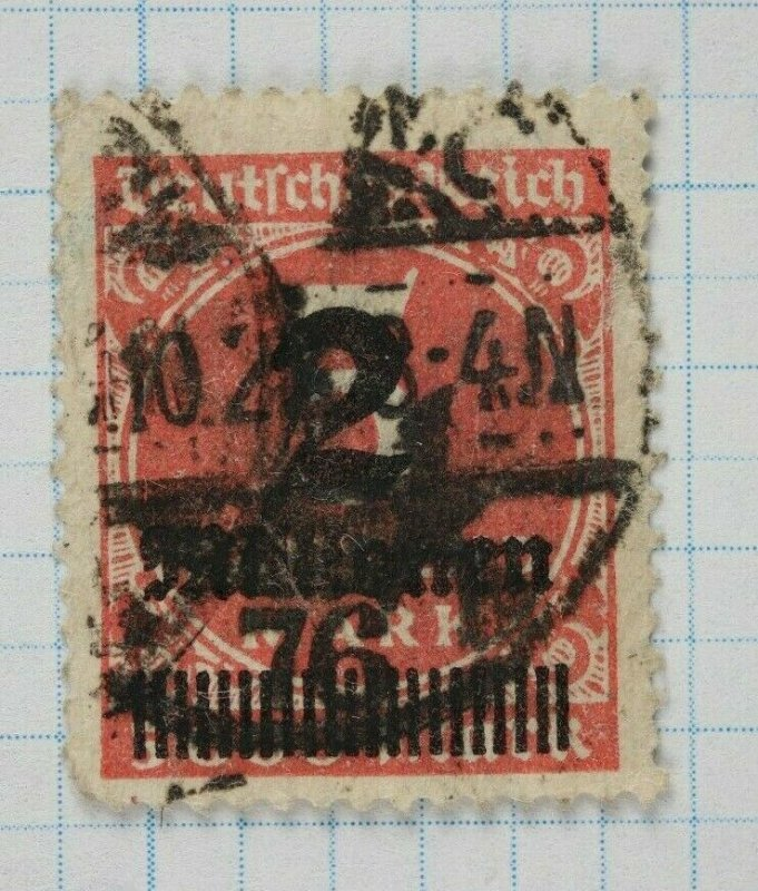 Germany sc#278 272 uknown EFO overprint op ovpt numeral 76? surcharged