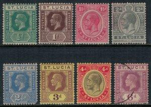 St. Lucia #76,8-81,4-6*/u  CV $22.45