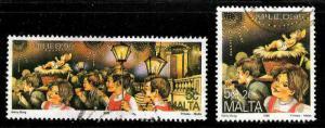 Malta # 874-75 ~ Used, HMR