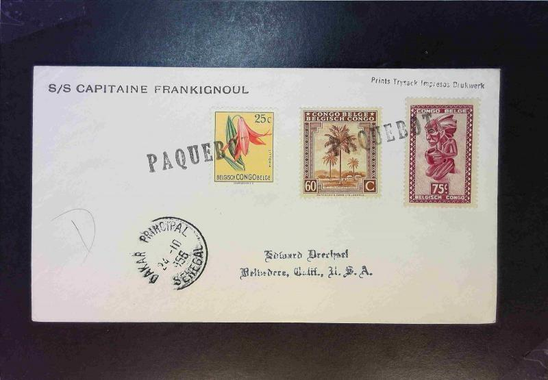 Colombia 1966 Paquebot Cover / Canal Zone Cancel - Z1892