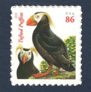 4737 Tufted Puffins (Orange Red Date) Single Mint/nh (Free Shipping Offer)