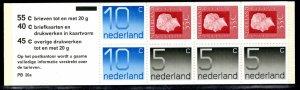 Netherlands Scott # 536a, mint nh, cpl. stamp booklet,  se-tenant
