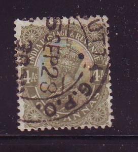 India Sc 89 1911 6 a  G V stamp used