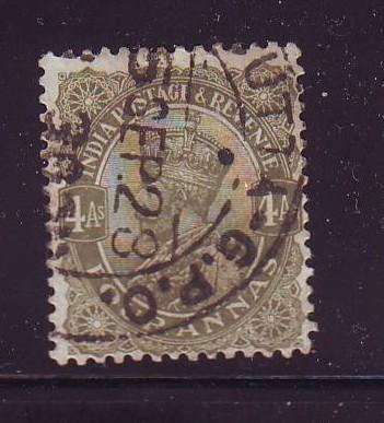 India Sc 89 1911 6 a  G V stamp used