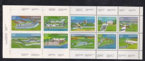 Canada # 992a, Canadian Forts, Complete Booklet, NH, 1/2 Cat. perf Separation