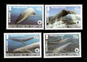 British Antarctic Territory 2003 WWF Blue Whale Fish Marine Life Sc 326 MNH 334