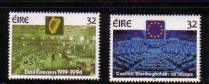 Ireland Sc 925-6 1994 Dail Parliament stamp set mint NH