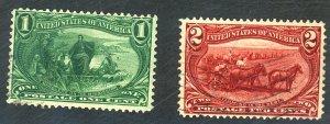 U.S. #285-286 USED SET OF 2