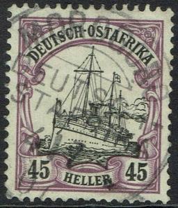 GERMAN EAST AFRICA 1905 YACHT 45H NO WMK USED