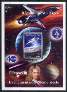Niger 1998 MNH 20th Century Events NASA Space Newton 1v M/S Stamps