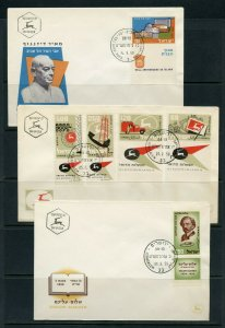 ISRAEL LOT Aii  OF 24 DIFFERENT FIRST DAY COVERS AS SHOWN
