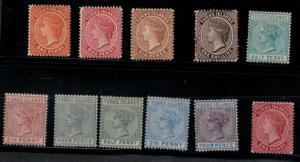 Turks Island 1881 44-54 Set LH CV$230.50
