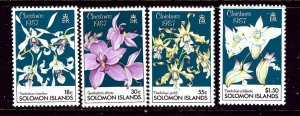 Solomon Is 598-601 MNH 1987 Christmas (Orchids)    (ap4043)