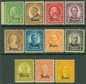 EDW1949SELL : USA 1929 Scott #658-68 Mint NH. Beautiful & PO Fresh set. Cat $431