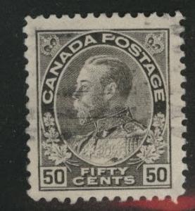 CANADA Scott 120 used 1925 50c Admiral stamp CV$2.75
