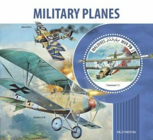 Z08 MLD190310b MALDIVES 2019 Military planes MNH ** Postfrisch