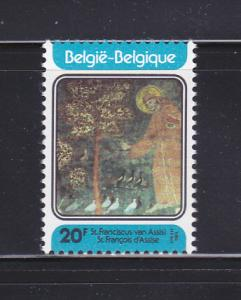 Belgium 1134 Set MNH St Francis Of Assisi (A)