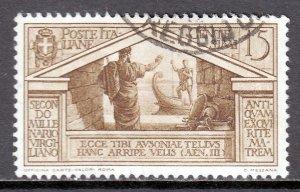 Italy - Scott #248 - Used - Pencil on reverse - SCV $2.40