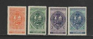 DOMINICAN REPUBLIC #338-341 1980 SALCEDO PROVINCE MINT VF LH O.G