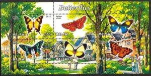 Malawi 2012 Butterflies (3) MNH Cinderella !