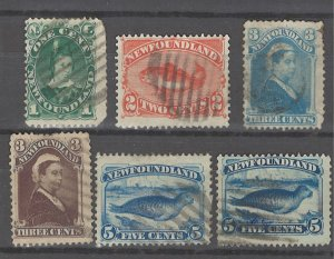 COLLECTION LOT # 3219 NEWFOUNDLAND 6 STAMPS 1880+ CLEARANCE CV+$38