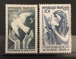 France 1946 #566-7, MNH, CV $.50