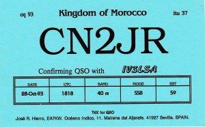 7225 Amateur Radio QSL Card  Kingdom of Morocco