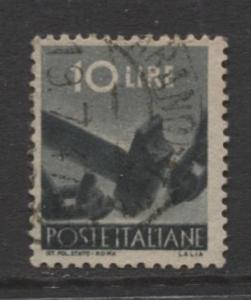 Italy - Scott 473 - Definitive -1945 -VFU - Single 10.l Stamp