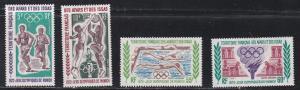 Afars & Issas # C66-69, Munich Summer Olympics, Hinged, 1/3 Cat.