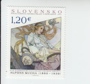 2015 Slovakia Painting Art  (Scott 729) MNH