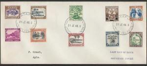 TOKELAU IS 1948 cover last day of use Samoa Stamps, Atafu cds..............10048