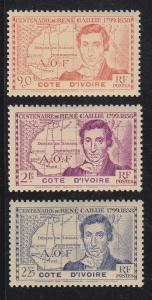 Ivory Coast Scott #160-162 MNH Note