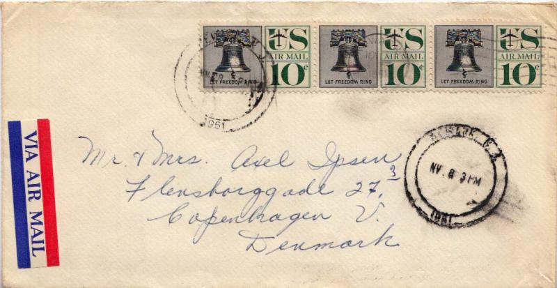 Airmail Issues 1961 Postal History