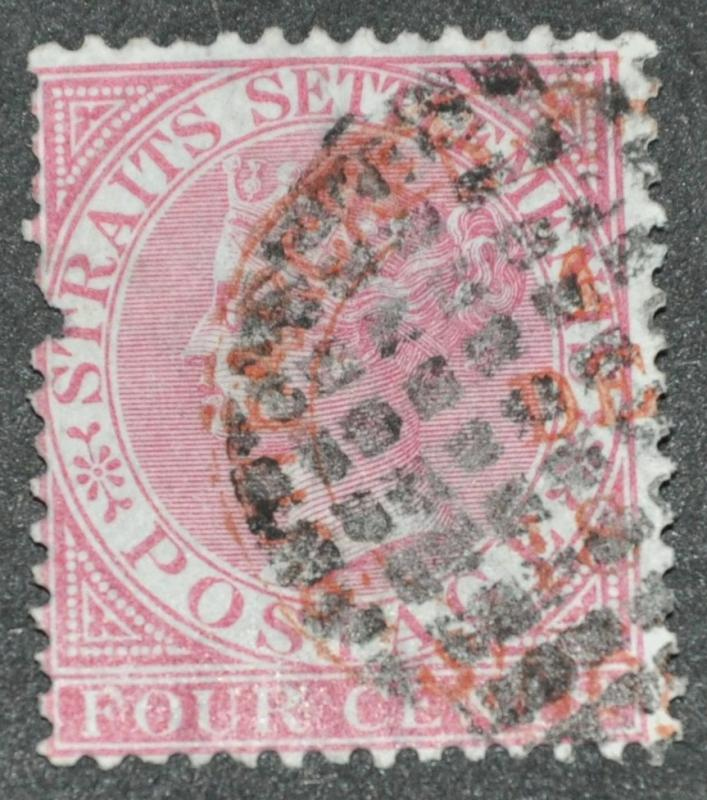 DYNAMITE Stamps: Straits Settlements Scott #11 - USED