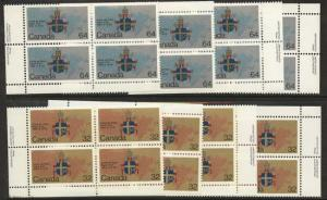 Canada USC #1030-1031 Mint MS Imprint Blocks VF-NH 1984 Papal Visit