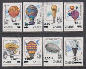 Zaire 1413-1420 Hot Air Balloons MNH VF