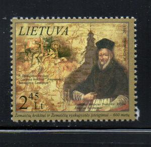 Lithuania Sc 989 2013 Christianity Samogita stamp mint NH