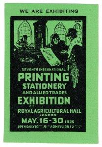 (I.B) Cinderella Collection : Printing Exhibition (London 1925)