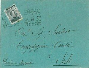 ITALIA REGNO - BUSTA con annullo AMBULANTE: TAMVIA SALSO - BORGO SD 1907 - BELLA