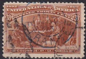 US #239 F-VF Used CV $90.00 (A19534)