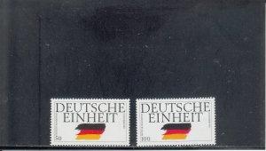 GERMANY 1612-1613 MNH 2019 SCOTT CATALOGUE VALUE $2.80