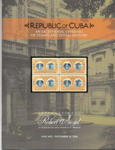 Siegel Auction Sale on Classic Cuba