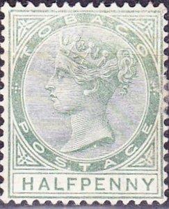 TOBAGO 1885 Dull Green SG20 MH