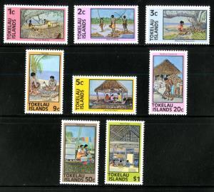 TOKELAU ISLANDS 49-56 MNH SCV $3.25 BIN $1.75