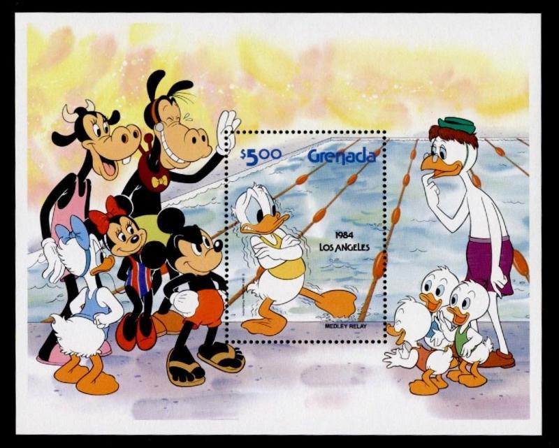 Grenada 1194 MNH Disney, Olympic Sports
