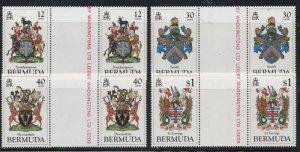 Bermuda Sc 457-60 1984 Coats of Arms stamp set gutter pair mint NH