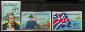 NORFOLK ISLAND SG200/2 1973 CAPTAIN COOK 5th ISSUE MNH