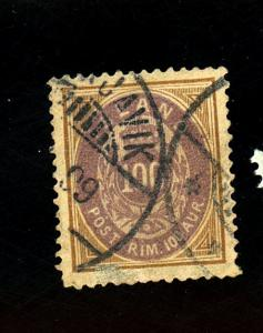 Iceland #20 Used F-VF Cat $175